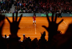 France v Switzerland - Davis Cup World Group Final: Day One